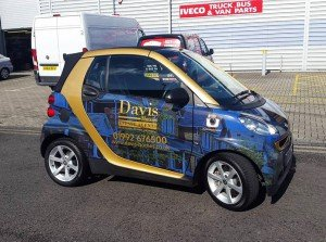 Smart car wrapped full colour digital print london essex