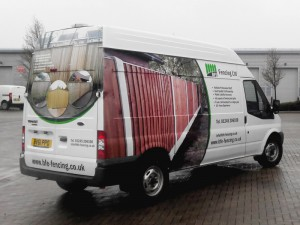 ford transit van graphics in east london