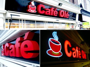 cafe shop 3d sign