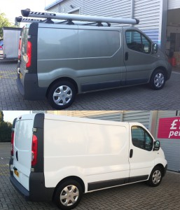 renault trafic colour change wrap in east london